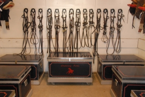 The Strideaway Farms tack room - where we keep everything we need for our horses