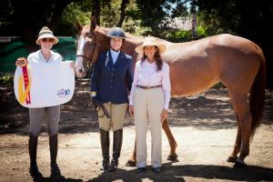 Nancy, Polly, and I were so proud of our $1 horse for winning Reserve Champ at Menlo this year!